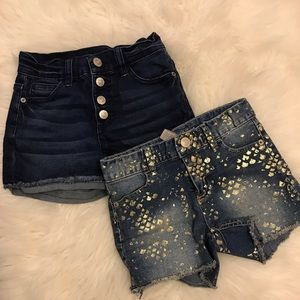 Two Justice Denim Shorts 12 Slim